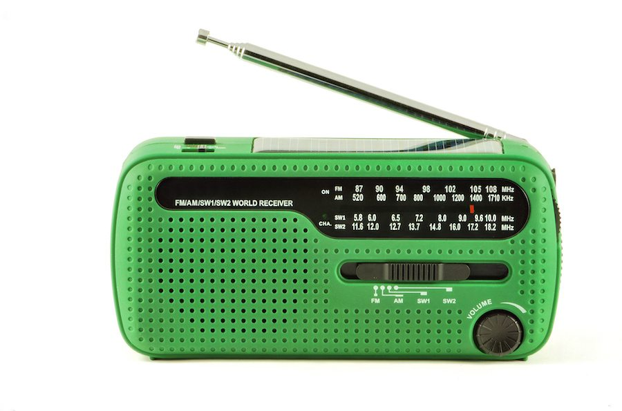 Holiday home accessories - solar digital radio